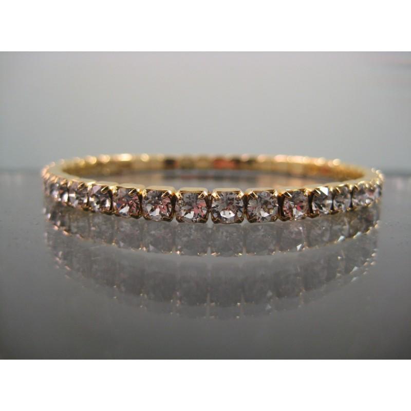 Swarovski Crystal Tennis Stretch Bracelet