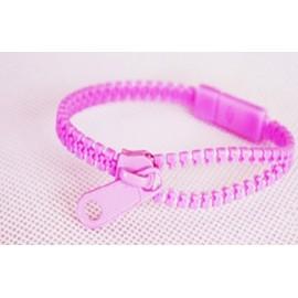 Neon Lavender Zipper Bracelet