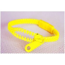 Neon Yellow Zipper Bracelet