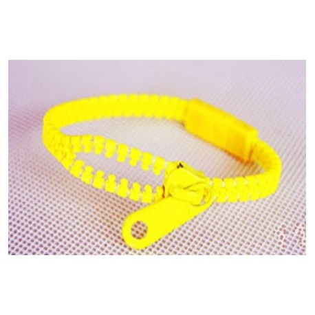 Neon Yellow Zipper Bracelet