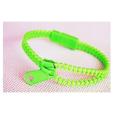 Neon Green Zipper Bracelet
