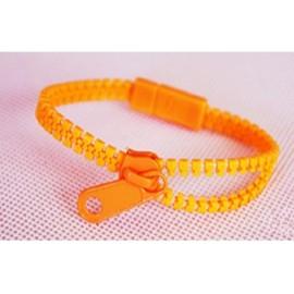 Neon Orange Zipper Bracelet