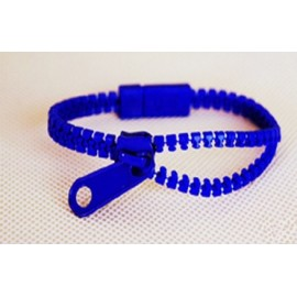 Neon Dark Blue Zipper Bracelet