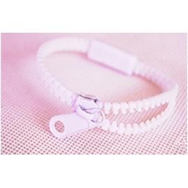 Neon White Zipper Bracelet