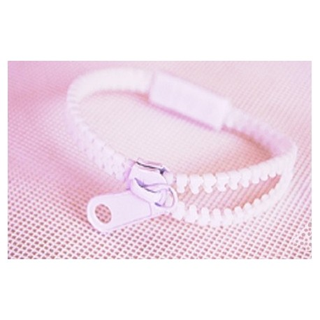 Neon White Zipper Bracelet