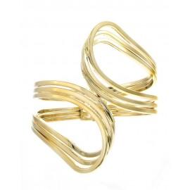 Metal Hinge Loop Bracelet - Gold