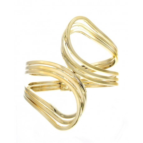 Metal Hinge Loop Bracelet - Gold