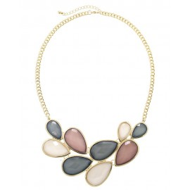 Acrylic Multi  Stone Statement Necklace