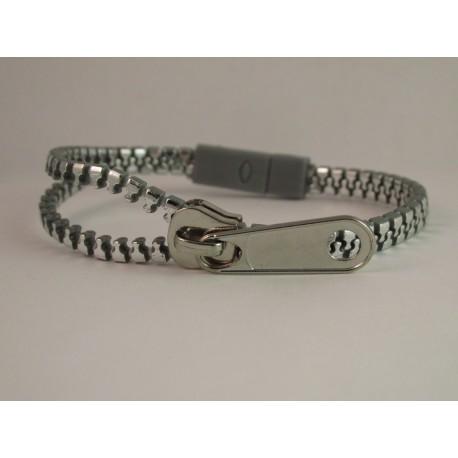 Metallic Silver Zipper Bracelet