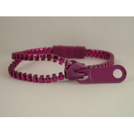 Metallic Light Purple Zipper Bracelet