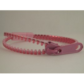 Metallic Pink Zipper Bracelet