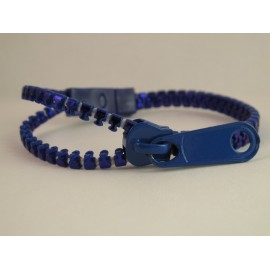 Metallic Blue Zipper Bracelet