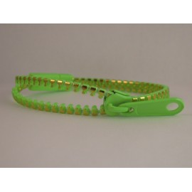 Metallic Light Green Zipper Bracelet