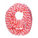Coral Chevron Infinity Scarf