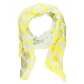 Yellow / Beige Geometric Polka Dot Infinity Scarf