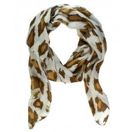 Brown Fall Leaves Infinity Scarf
