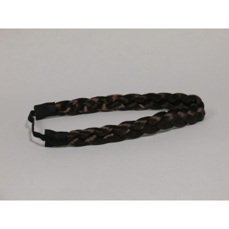 Brown Braid Faux Hair Headband