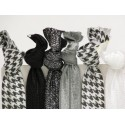 Classic Houndstooth Hair Ties