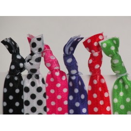 Dark Polka Dot Hair Ties