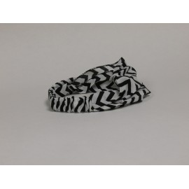Black / White Chevron Headband