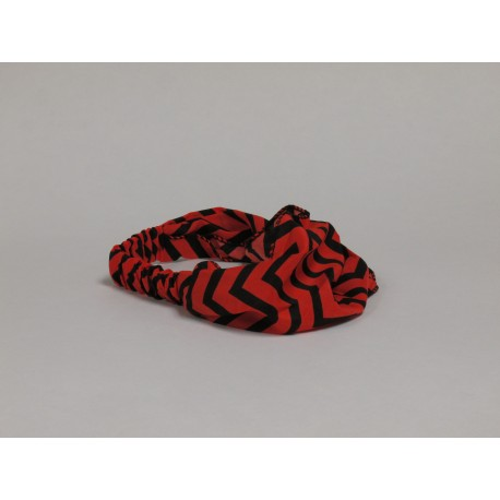 Tomato Red / Black Chevron