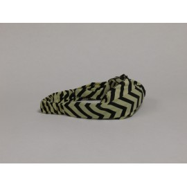 Beige / Black Chevron Headband