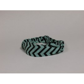 Light Green / Black Chevron Headband