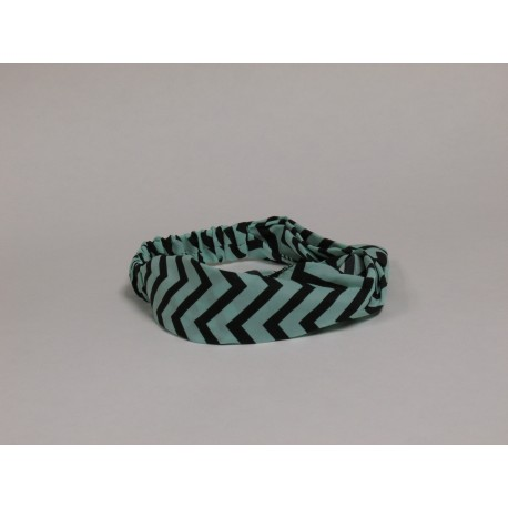 Light Green / Black Chevron