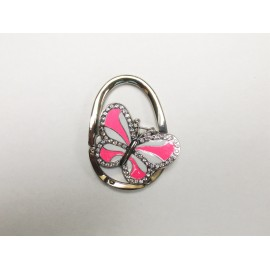 Pink Butterfly Purse Holder