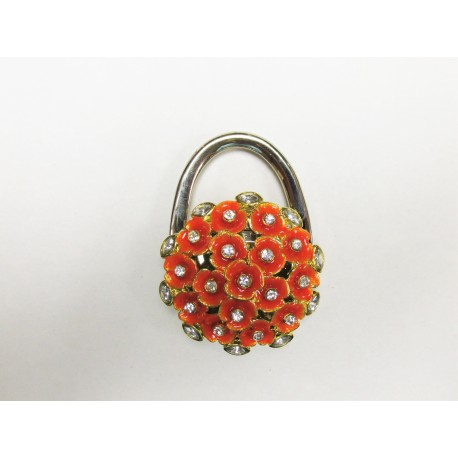 Orange Flower Purse Holder