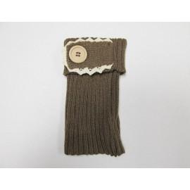 Cream Single Button Boot Cuffs