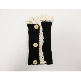 Black Lace Trim Boot Cuffs