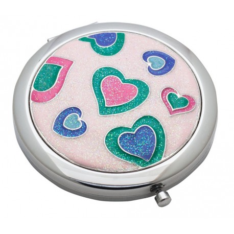 Fun Hearts Foldable Compact Mirror